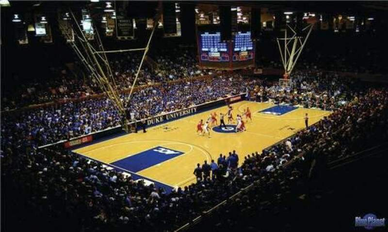 Seating view for Cameron Indoor Stadium Section 32 Row G Seat 18