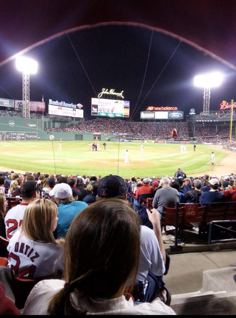 Seating view for Fenway Park Section Loge Box 133 Row DD Seat 1