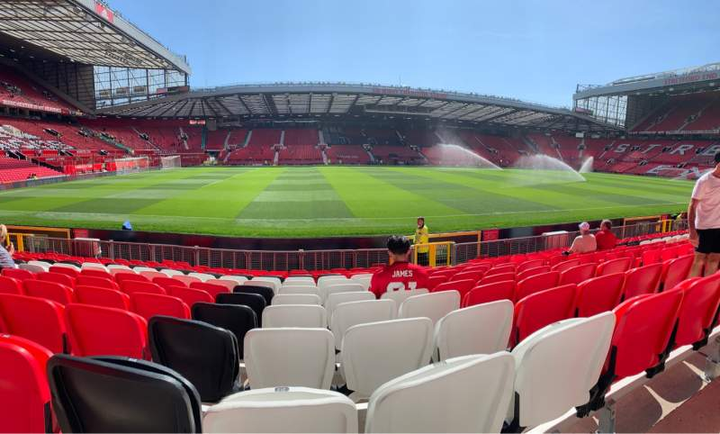 Seating view for Old Trafford Section N1405 Row PP Seat 212