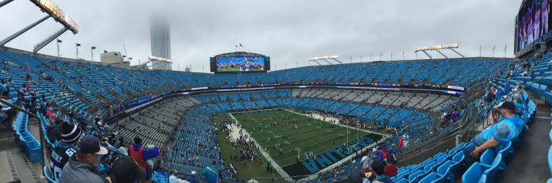 Seating view for Bank of America Stadium Section 505 Row 7 Seat 15