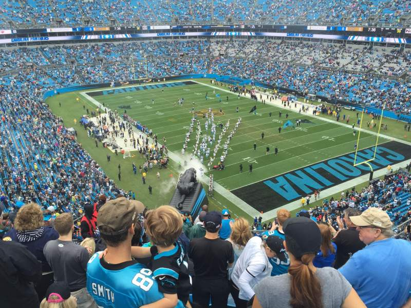 Seating view for Bank of America Stadium Section 506 Row 7 Seat 15