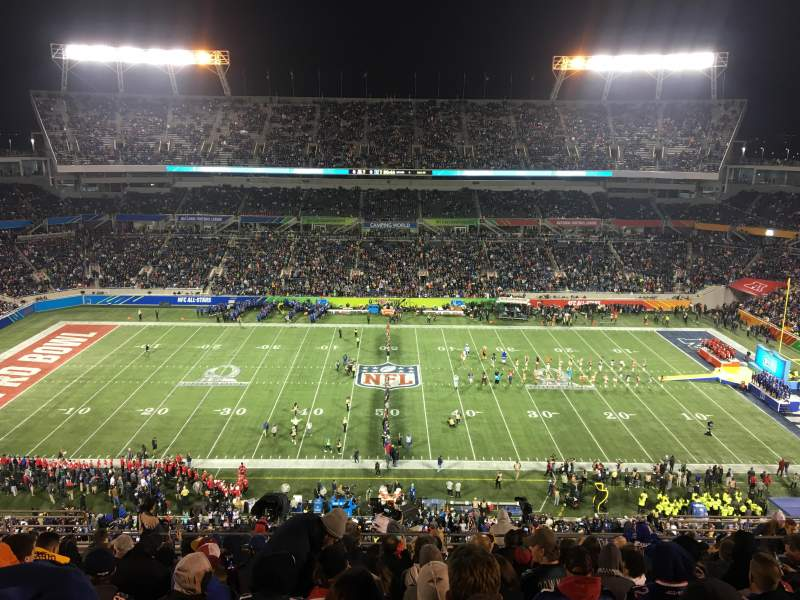 Seating view for Camping World Stadium Section 234 Row Q Seat 12