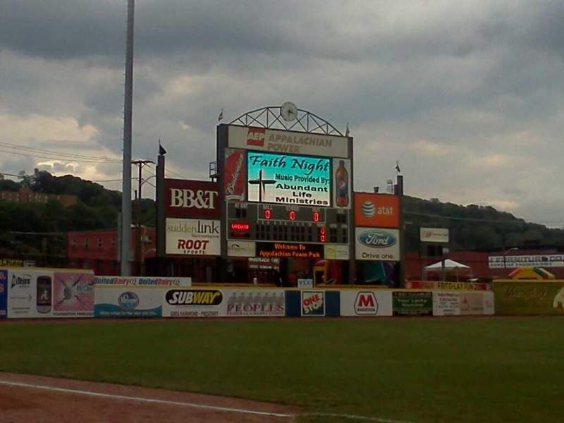 Seating view for Appalachian Power Park Section 102 Row A Seat 10