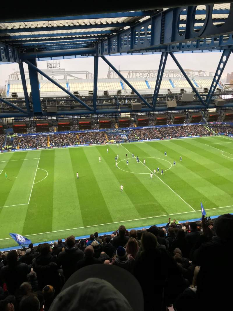 Seating view for Stamford Bridge Section West Stand Upper Row 19 Seat 168