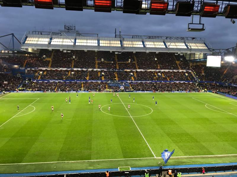 Seating view for Stamford Bridge Section West Stand Upper 5 Row 2 Seat 134