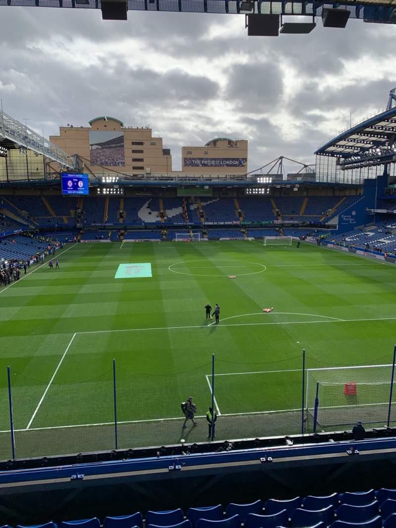 Seating view for Stamford Bridge Section Matthew Harding Upper 13 Row G Seat 109