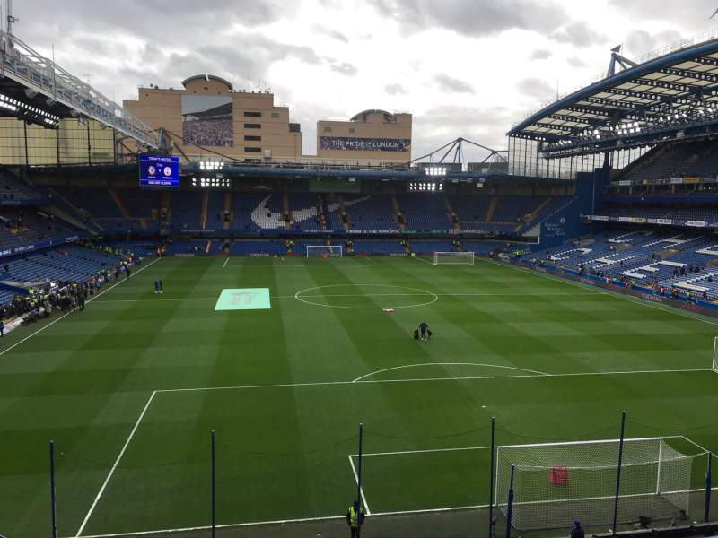 Seating view for Stamford Bridge Section Matthew Harding Upper 13 Row G Seat 109