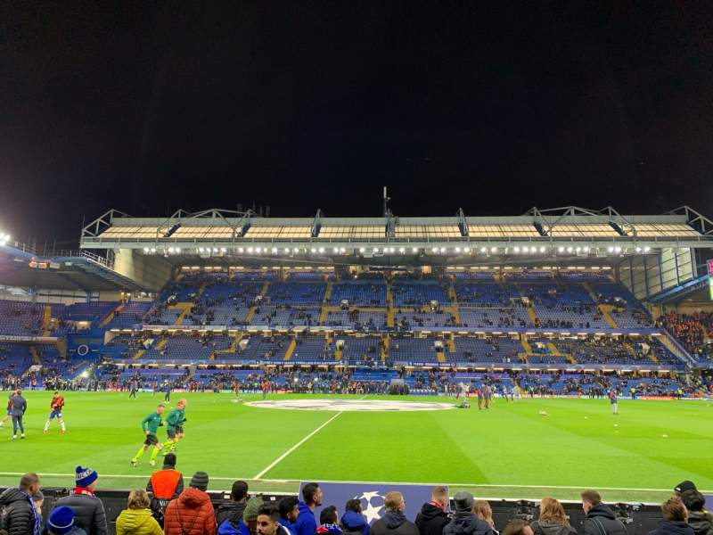 Seating view for Stamford Bridge Section West Stand Lower Row 7 Seat 101