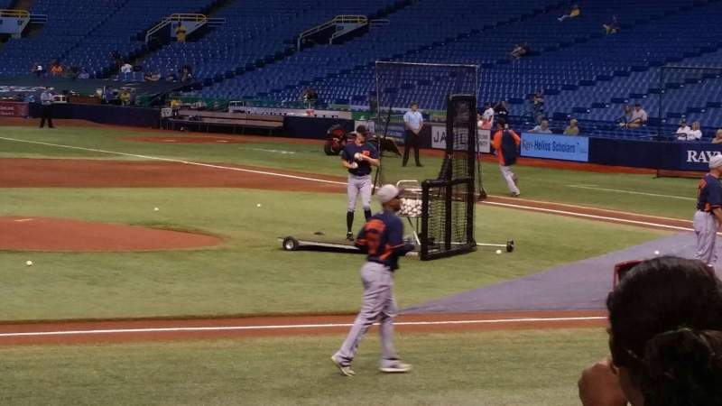 Seating view for Tropicana Field Section 115 Row n Seat 1