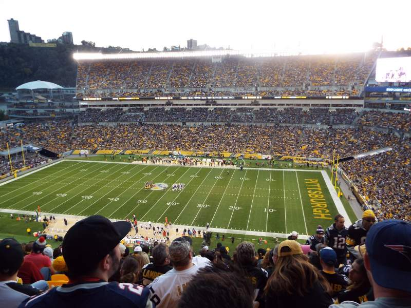 Seating view for Heinz Field Section 513 Row Q Seat 4