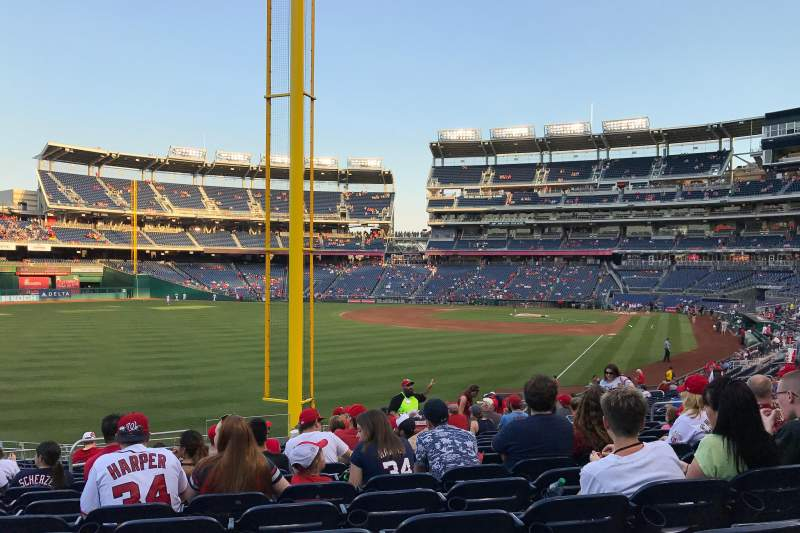 Seating view for Nationals Park Section 107 Row MM Seat 16