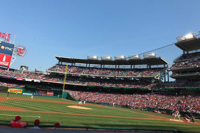 Seating view for Nationals Park Section 116 Row G Seat 10