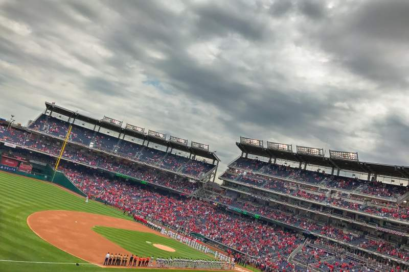 Seating view for Nationals Park Section 205 Row G Seat 11