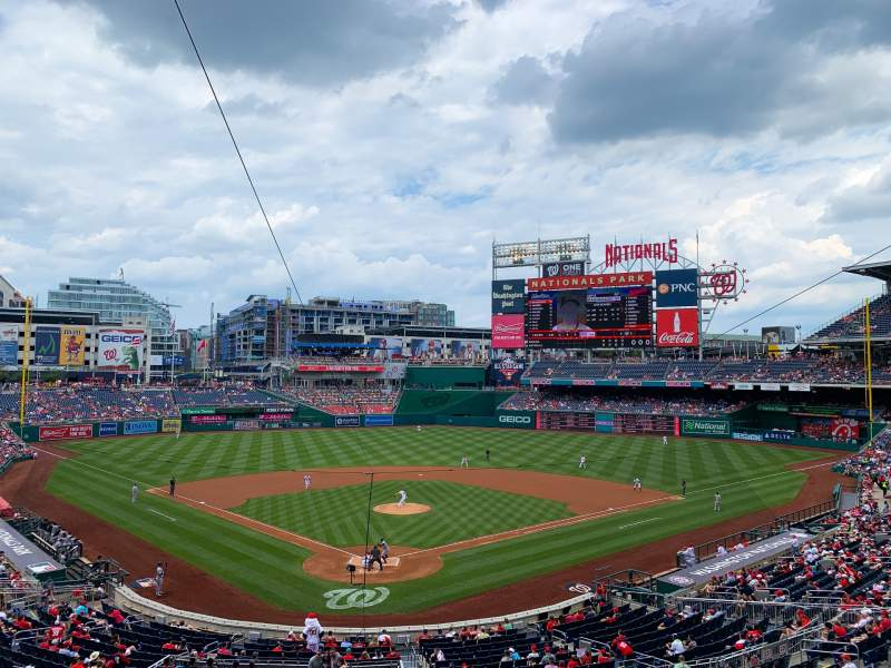 Seating view for Nationals Park Section 214 Row A Seat 5