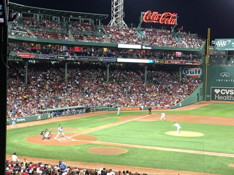 Seating view for Fenway Park Section Grandstand 15 Row 13 Seat 17