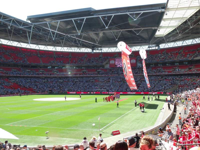 wembley stadium section 108 row 21 seat 157 sheffield. Black Bedroom Furniture Sets. Home Design Ideas