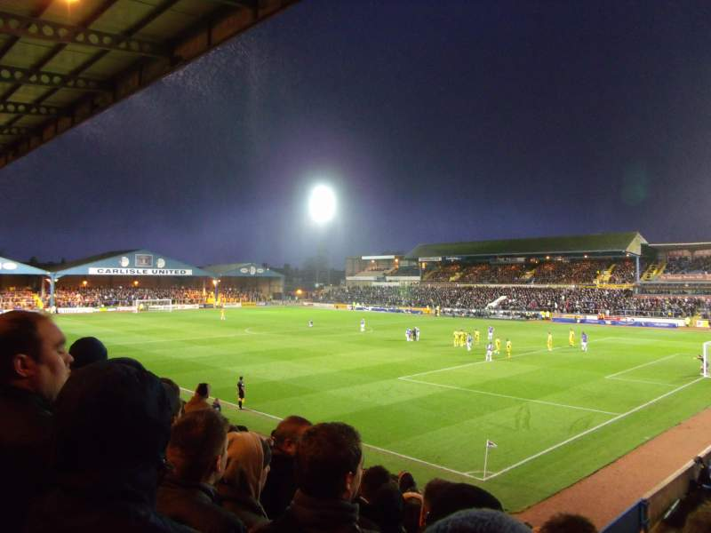 Seating view for Brunton Park Section 2 Row N Seat 21