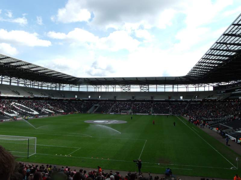 Seating view for Stadium:mk Section 30 Row CC Seat 0867