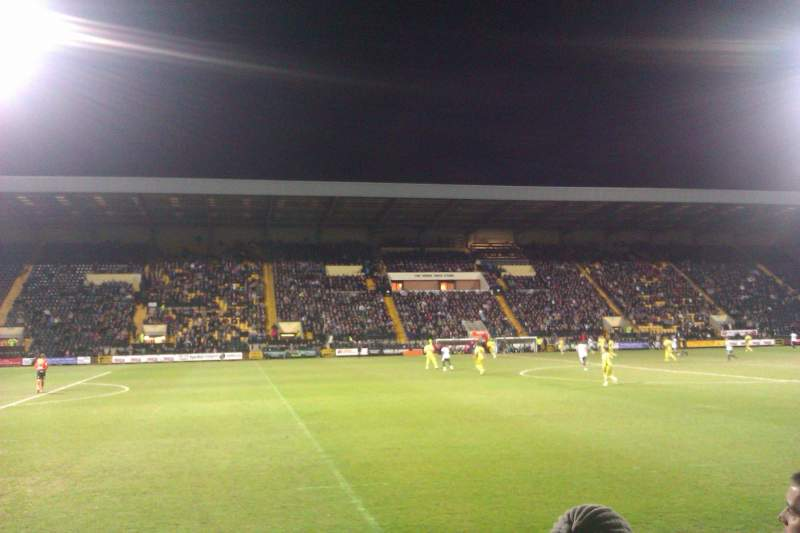 Seating view for Meadow Lane Section Y3 Row F Seat 159