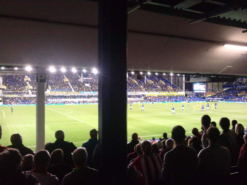 Seating view for Goodison Park Section LV1 Row N Seat 0049