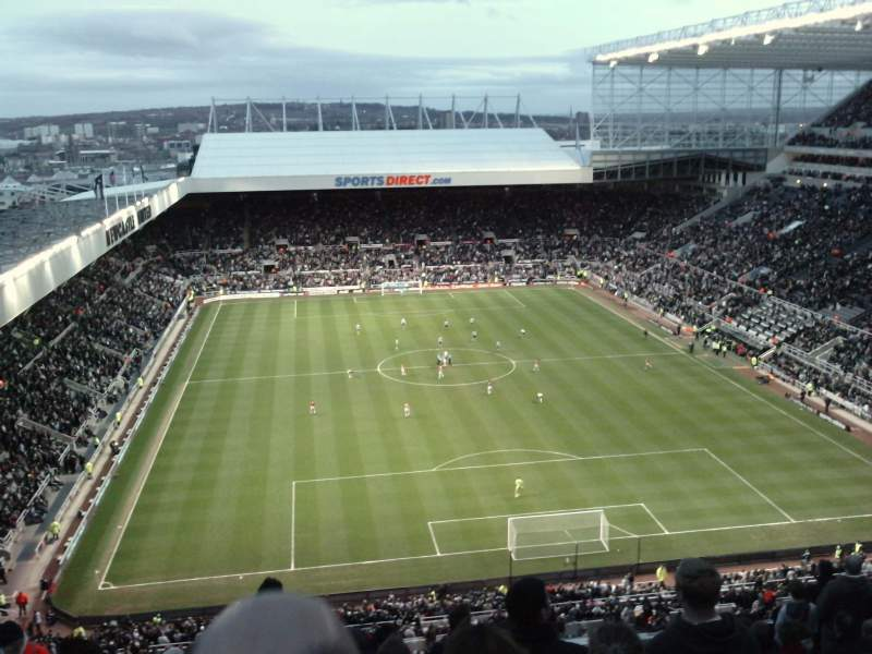 Seating view for St James' Park Section L7M Row L Seat 0532