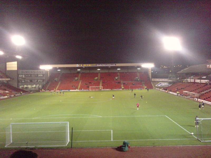 Seating view for Oakwell Stadium Section NS3 Row Y Seat 57