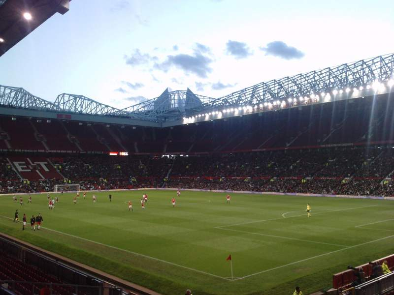 Seating view for Old Trafford Section E231 Row 8 Seat 24