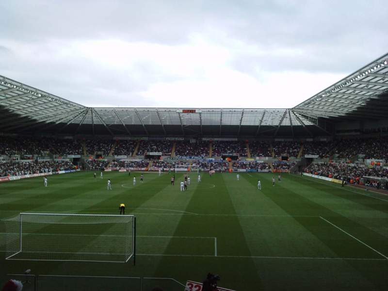 Seating view for Liberty Stadium Section North Stand Upper Row K Seat 0062