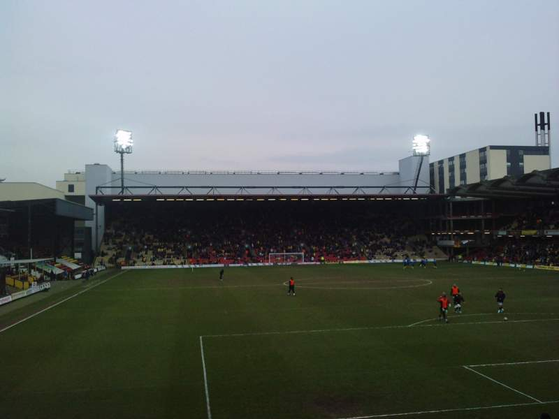 Seating view for Vicarage Road Section VR2 Row D Seat 54
