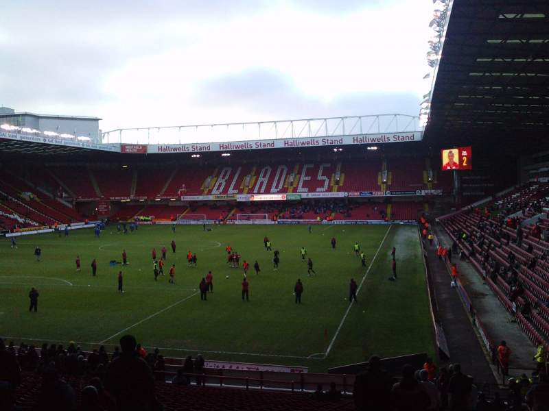 Seating view for Bramall Lane Section Kop Stand Gangway G Row AA Seat 177