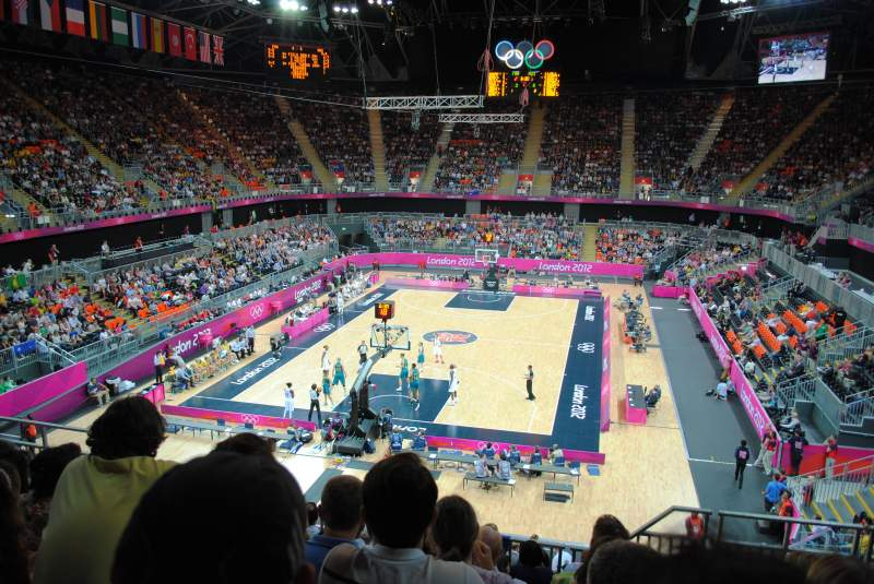 Seating view for Basketball Arena, London Section 222 Row 21 Seat 81