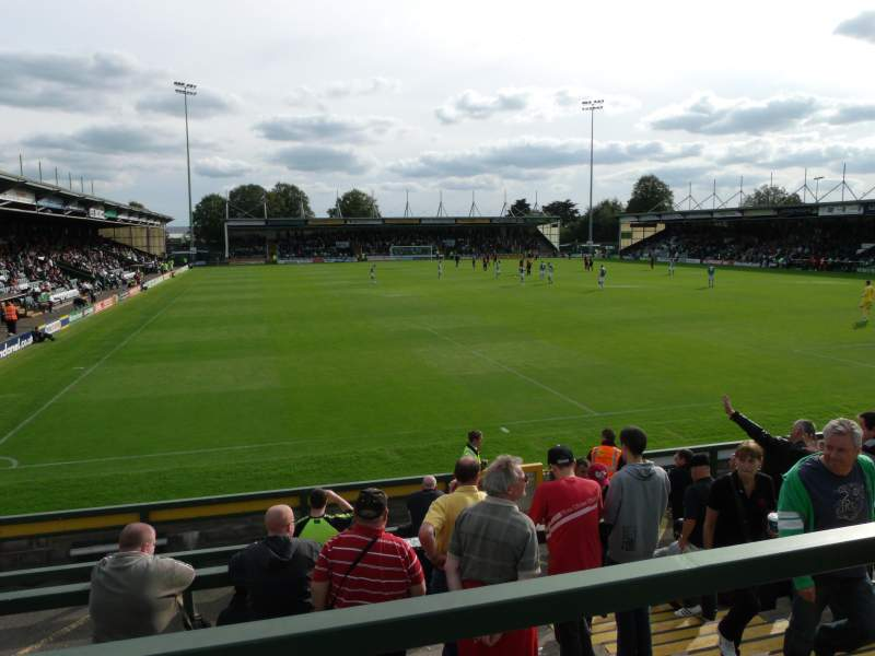 Seating view for Huish Park Section Copse Road Terrace Row Back