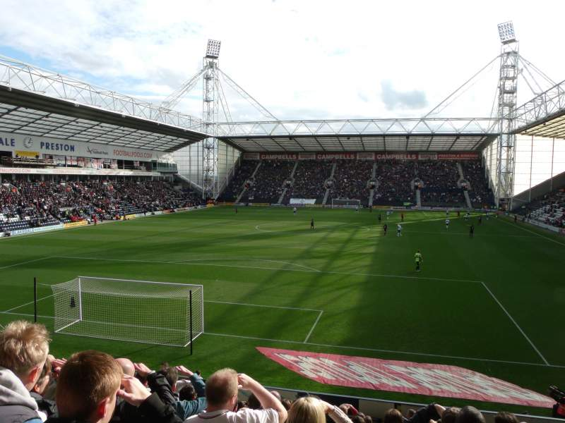 Seating view for Deepdale Section Kop Block M Row 19 Seat 59