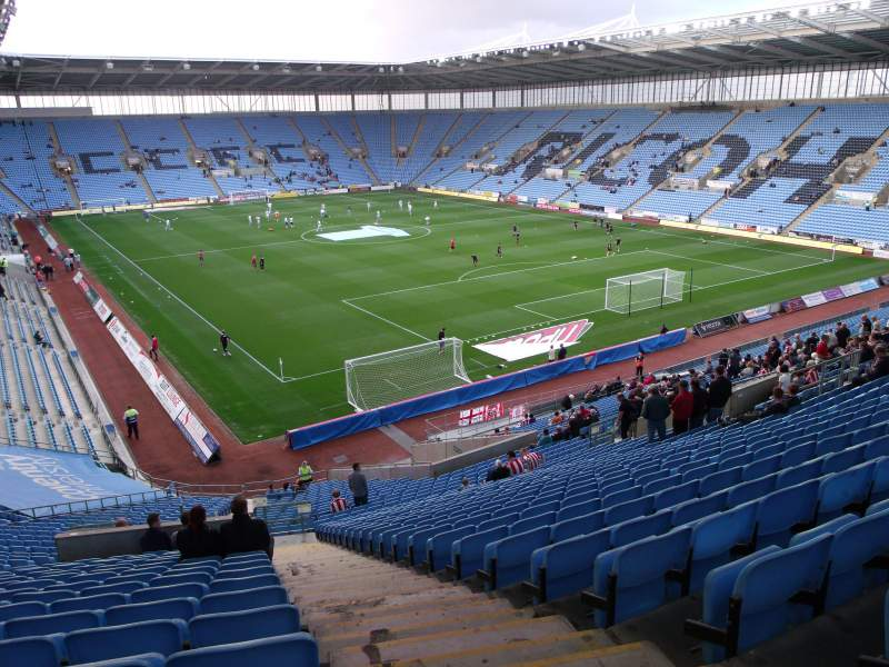 Seating view for Ricoh Arena Section 6 Row XX Seat 4