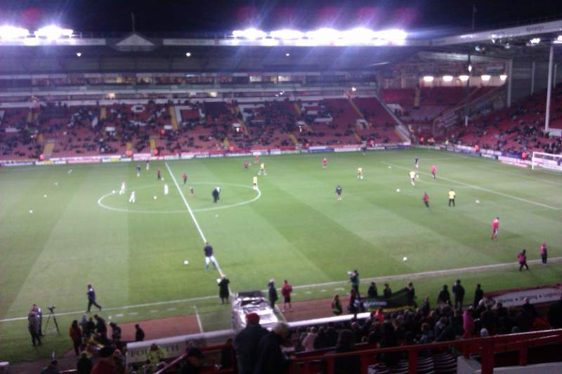 Seating view for Bramall Lane Section South Stand Gangway E Row GG Seat 106