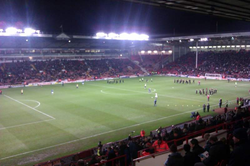 Seating view for Bramall Lane Section South Stand Gangway H Row GG Seat 193