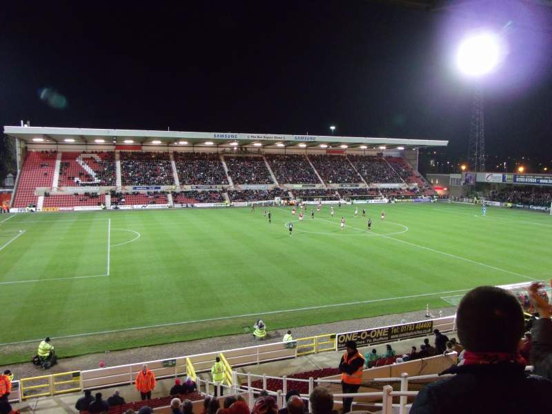 Seating view for County Ground Section AW1 Row M Seat 181