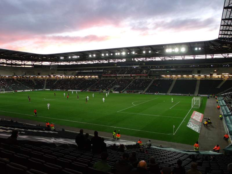 Seating view for Stadium:mk Section 38 Row DD Seat 1088