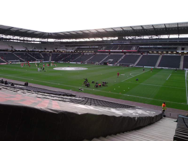 Seating view for Stadium:mk Section 38 Row CC Seat 1100