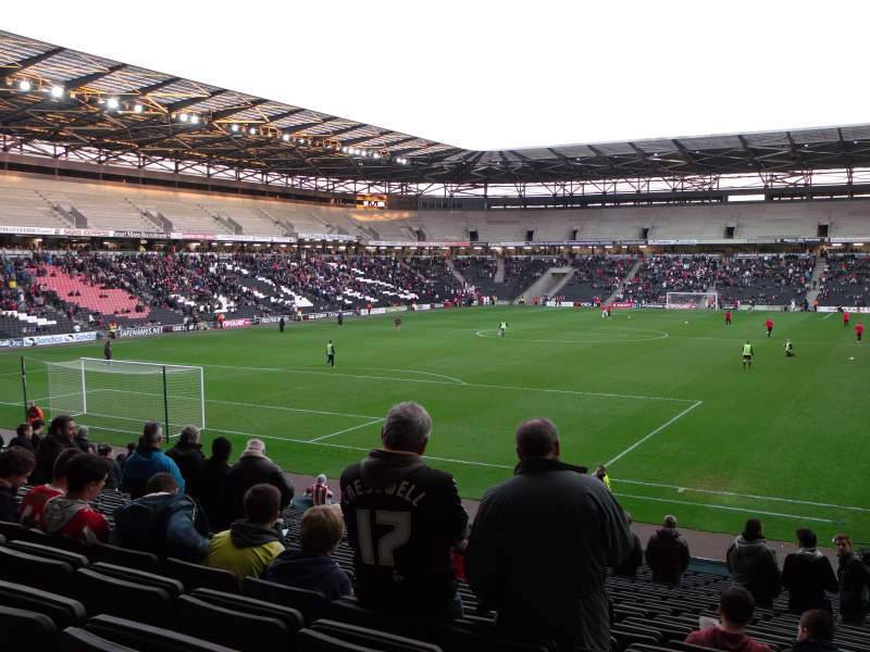 Seating view for Stadium:mk Section 30 Row Y Seat 857
