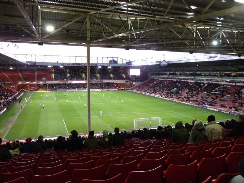 Seating view for Bramall Lane Section Kop Stand Gangway B Row AF Seat 56