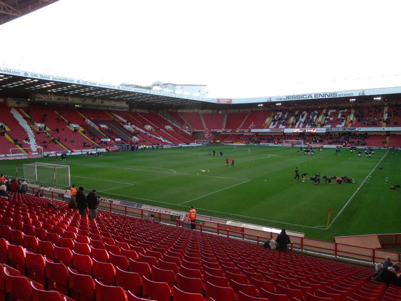 Seating view for Bramall Lane Section Kop Stand Gangway G Row Y Seat 182