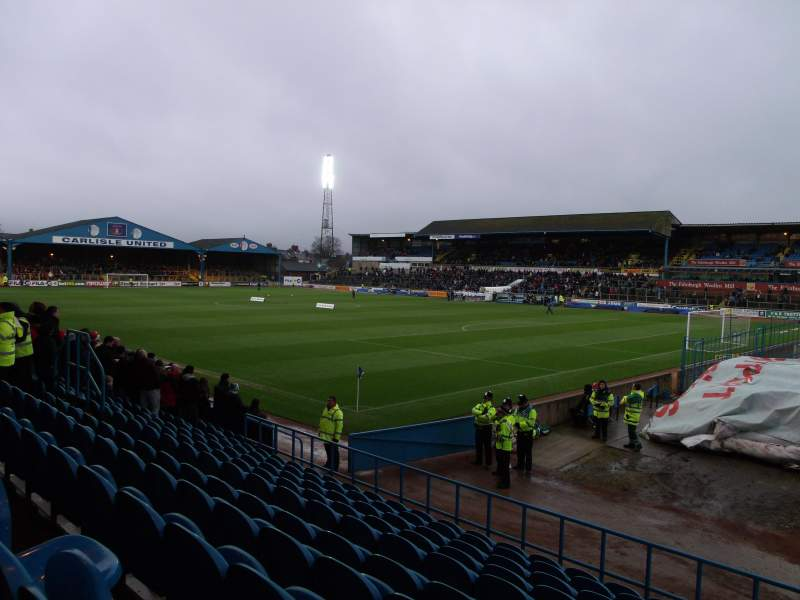 Seating view for Brunton Park Section 2 Row H Seat 12