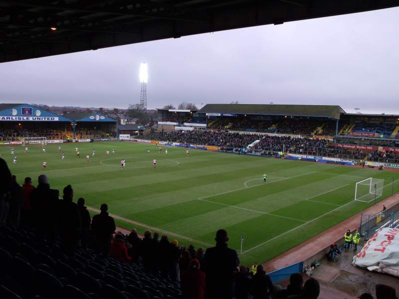 Seating view for Brunton Park Section 2 Row Z Seat 9