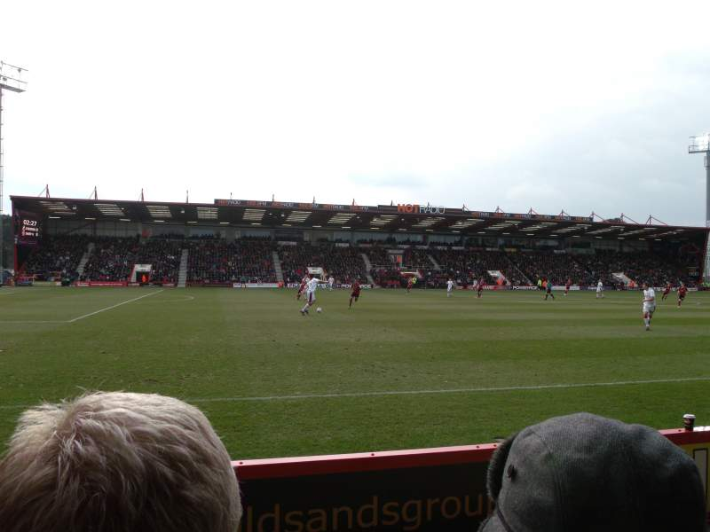 Seating view for Dean Court Section 22 Row C Seat 192