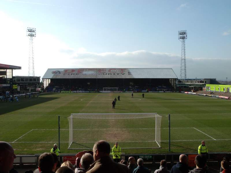 Seating view for Boundary Park Section Rochdale Road End Row R Seat 89