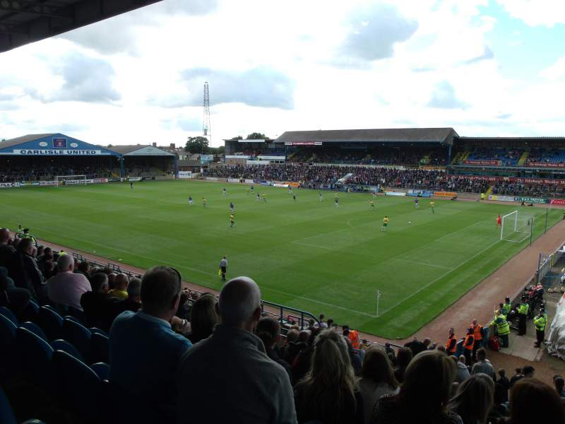 Seating view for Brunton Park Section 2 Row S Seat 21