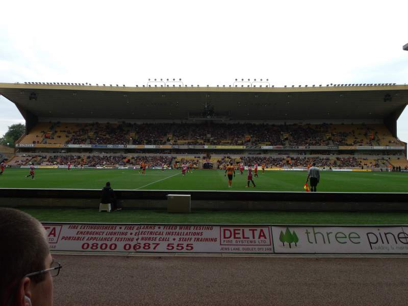 Seating view for Molineux Stadium Section JL5 Row B Seat 140