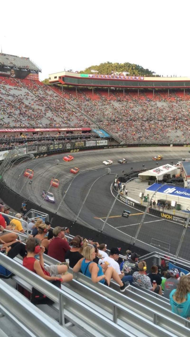 Seating view for Bristol Motor Speedway Section Richard Petty Row 22 Seat 4