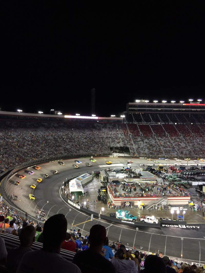 Seating view for Bristol Motor Speedway Section Waltrip E Row 53 Seat 4